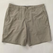 Hang Ten Mens Hybrid Style Shorts Casual Walking Board Shorts Sz 36 Beige