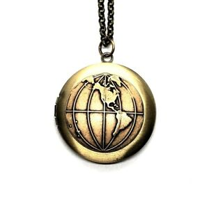 Handmade Globe Locket Necklace