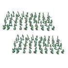 200 Pieces 2cm Plastic Toy Soldier Figurs  Men Accessories   Green