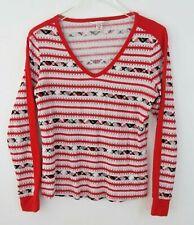 VICTORIA SECRET PINK  thermal Shirt small Pajamas Christmas Plaid stripes
