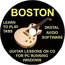 Boston 34 Guitar Tabs Software Lesson CD, 9 Backing Tracks & Free Bonuses