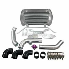 CXRacing Single Stock Turbo Front Mount Intercooler Kit BOV For Mazda RX7 FD