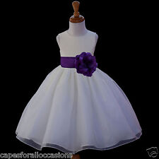 IVORY PAGEANT FLOWER GIRL DRESS ORGANZA BRIDESMAID 12-18M 2 2T 3 4 5T 6 6X 8 10