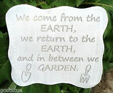 plastic gardening plaque mold garden mold mould We come from the Earth