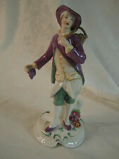 Copeland Spode England Figurine Man in Purple Jacket w/ grapes Fruit Seller ??