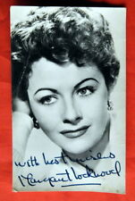 MARGARET LOCKWOOD #2 50' AUTOGRAPHED FACSIMILE PHOTO