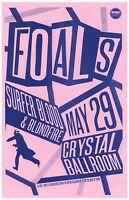 FOALS 2013 Gig POSTER Portland Oregon Concert Version 2