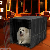 """Dog Crate Pet Cage Kennel COVER ONLY Black MidWest Quiet Time Breathable 48"""" XXL"""