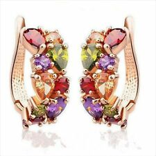 Clip Gold-plated Fashion Earrings Jewelry Studs In Aaa Grade Hypoallergenic