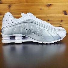 Nike Shox R4 Running Men's Shoes Sneakers White Metallic Silver Grey 104265 131