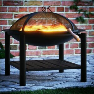 Fire Bowl Log Outdoor Garden Fire Pit Heater Camping Patio Deck Burner BBQ