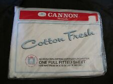 "New Vintage No-Iron ""Cotton Fresh"" Cannon Full Fitted Sheet Light Beige/Khaki"
