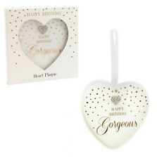 MAD DOTS...HAPPY BIRTHDAY GORGEOUS HANGING HEART PLAQUE