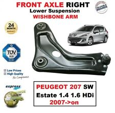 FRONT AXLE RIGHT Lower Wishbone ARM for PEUGEOT 207 SW Estate 1.4 1.6 HDi 2007->