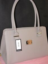 NWT NINE West Metro Girl taupe Natural Beige Khaki ELM satchel office work bag