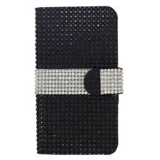 Étuis, housses et coques etuis portefeuilles noir métallique pour téléphone mobile et assistant personnel (PDA)