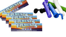 10 Packs Elements King Size Slim Cigarette Rolling 32 Papers Pack + FREE TUBES
