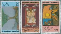 French Polynesia 1990 Sc#549-551,SG599-601 Polynesian Legends set MNH
