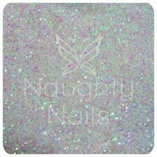 WHITE OPAL Fine Glitter Dust Powder Iridescent for Nail Art UV Gel Acrylic Nails