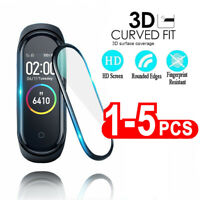 1/2/5X For Xiaomi Mi Band 4 5 Soft Glass Protector Cover Screen Protective Smart