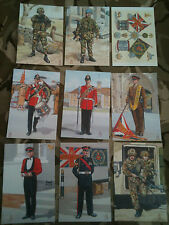 Set x 9 Military Postcards Royal Anglian Regiment by Alix Baker