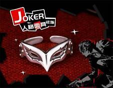 Persona5 P5 Jocker Hero Mask 925 Sterling Silver Adjustable Ring Jewelry Gift