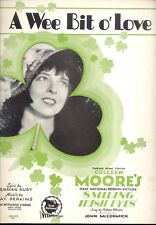 "SMILING IRISH EYES Sheet Music ""A Wee Bit Of Love"" Colleen Moore"