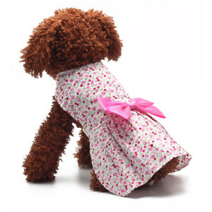Sweet Princess Pet Clothes Dresses Princess Wedding Puppy Outfit for Small Dog