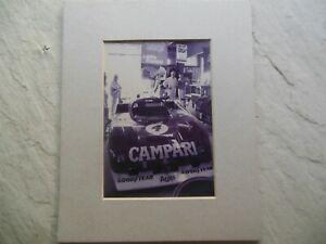 ALFA ROMEO World Champion #4 T 33 TT12 Watkins Glen 6 HOURS B&W PHOTOGRAPH