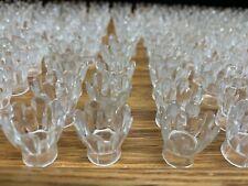 205+ VINTAGE Plastic Christmas Light Bulb Clear Covers REFLECTOR Flower Tulip