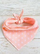 Handmade Beautiful Peachy Pink Star fabric XLarge Dog And Puppy Bandana