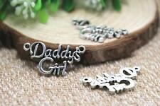 DADDY'S GIRL SILVER PENDANT CHARM FATHER DAUGHTER JEWELRY #KC25 Free Shipping