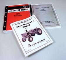 Set Allis Chalmers 170 Tractor Service Parts Operators Manuals Repair Catalog