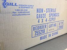 (Case of 2,000) 755218 GAUZE GILL PODIATRY SUPPLY 4X4IN NONSTERILE 12PLY (NEW)