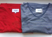 2 Penningtons Womens Plus Size T-Shirts RED + Blue & White Stripes-Size 4X- NEW