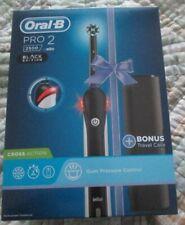 Braun Oral-B PRO 2 2500 Black Electric Toothbrush with holder