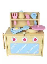 Diggin Bamboo BoxSet Kitchen Compact Portable Eco Friendly Play Kitchen Toy Set