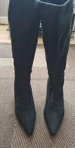 Next Ladies Black Boots Size 6