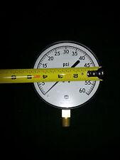 """USG Pressure Gauge 4 1/2"""" 60 psi 60psi Large face brass gage 5 air compressor"""
