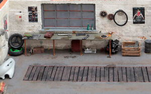 Window for your garage workshop diorama 1:18 1:10 real wood