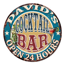 Cpco-0006 David'S Cocktail Bar Father's Day Valentine's Day Christmas Gift Sign