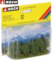 NOCH 25410 Sträucher grün, 3 - 4 cm hoch (5 Stück) - NEU + OVP