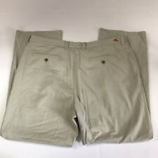 Tommy Bahama Mens 38x29 Khaki Chino Pants Beige Tan