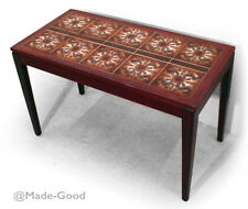 VINTAGE 60s DANISH ROSEWOOD ROYAL COPENHAGEN TILED SIDE COFFEE TABLE