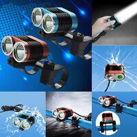 True Waterproof 6000LM 2x XM-L T6 LED USB Lamp Bike Bicycle Headlight Head Lamp