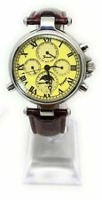 A Moon Phase Stauer Automatic Mens Calendar Watch Day Date & Month