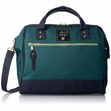 anello Official 2WAY Shoulder Bag CROSS BOTTLE AT-H0852 Green Navy w/ Tracking