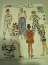 UNCUT GIRLS' LOT McCALL'S Fashion Basics for Kids # 5389 Sewing Pattern 14 1991