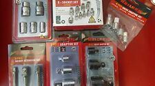 JOBLOT OF NEILSEN TOOLS,SOCKET/ IMPACT CONVERTERS + DRIVER SET +,E - SOCKET SET.