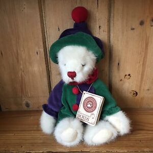 Boyds Bears Plush TJ's Best Dressed Snickersnoodle Clown VGC